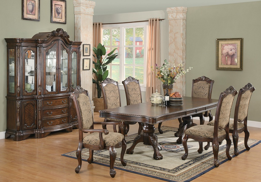 Well Liked Dining Table Sets For Andrea Collection 103111 Formal Dining Table Set, Coaster Furniture (View 4 of 20)