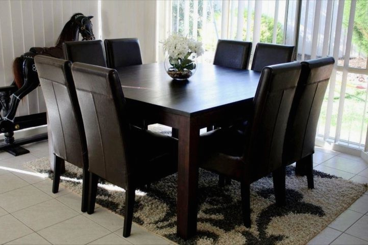 Well Liked Dining Tables Seats 8 Pertaining To Square Dining Tables Seat 8 – Soulpower (View 3 of 20)