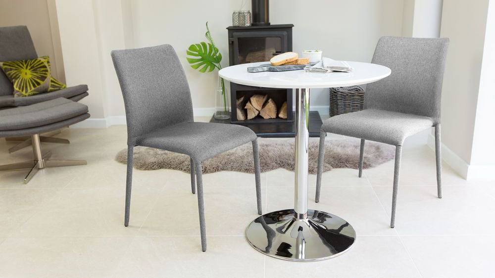 Well Liked Dining Tables With 2 Seater Within Naro White Gloss And Riva Stackable 2 Seater Dining Set (View 5 of 20)