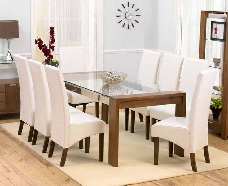 Well Liked Dining Tables With 8 Chairs Throughout Impressive 8 Chair Dining Table Set 19 Best Mo # (View 20 of 20)