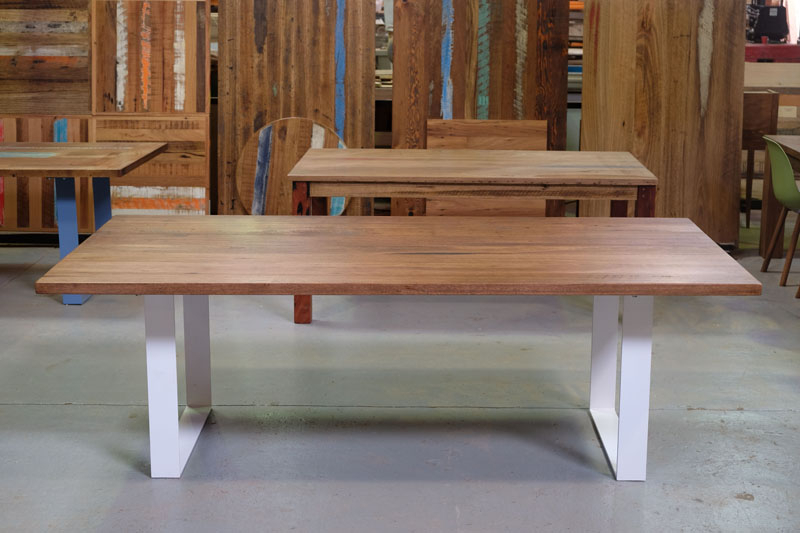 Well Liked Dining Tables With White Legs With Recycled Timber Dining Tables & Outdoor Timber Furniture Melbourne (View 20 of 20)
