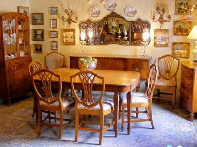 Well Liked Ebay Dining Suites For Antique 1930's Satinwood Dining Room Suite (View 4 of 20)
