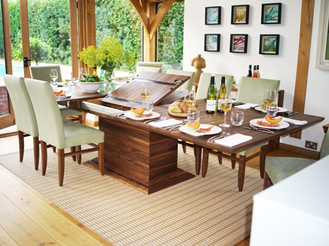 Well Liked Extending Dining Tables In Solid Oak / Walnut, Contemporary Tables With Regard To Extending Rectangular Dining Tables (View 9 of 20)