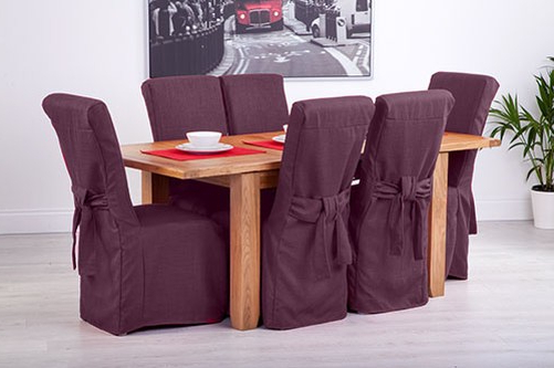 Well Liked Fabric Slipcovers For Scroll Top High Back Leather Oak Dining Chairs For Ebay Dining Chairs (View 5 of 20)