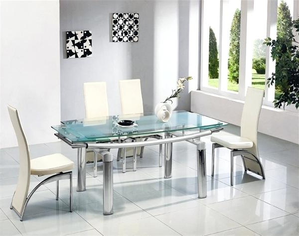 Well Liked Glass Dining Tables Sets Regarding Glass Dining Sets Glass Dining Table Sets 6 – Edugroup (View 17 of 20)