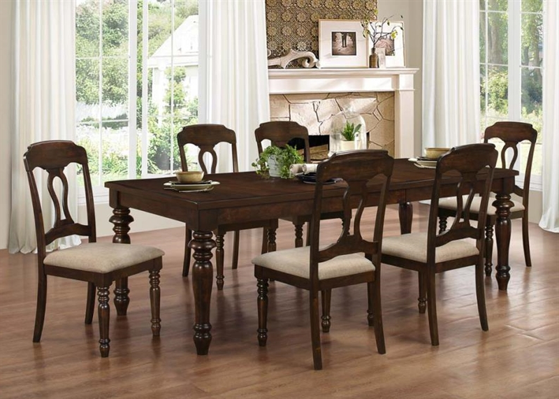 Well Liked Hamilton 5 Piece Dining Set In Antique Tobacco Finishcoaster Pertaining To Hamilton Dining Tables (Gallery 14 of 20)