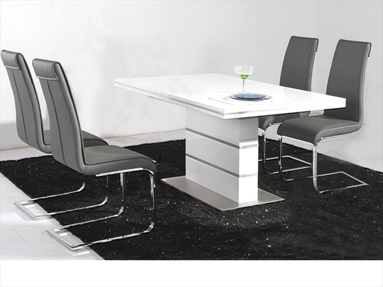 Well Liked Hi Gloss Dining Tables In High Gloss Tables & Chairs : Tbs Discount Furniture, A Large (View 18 of 20)