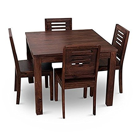 Well Liked Home Edge Solid Wood 4 Seater Wooden Dining Table Set, Rs 13800 Inside Solid Wood Dining Tables (View 19 of 20)