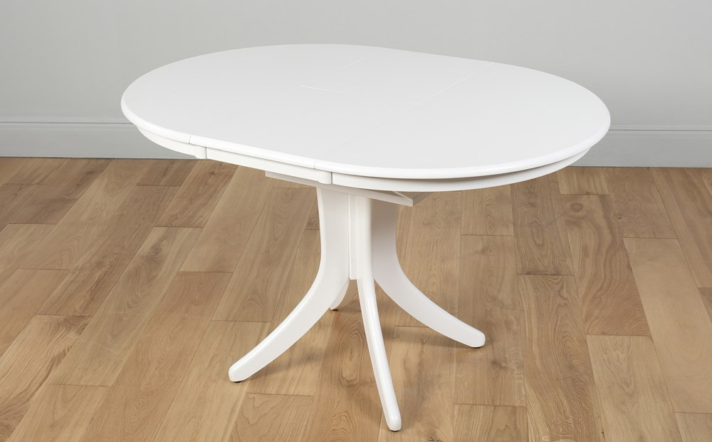 Featured Photo of Round White Extendable Dining Tables