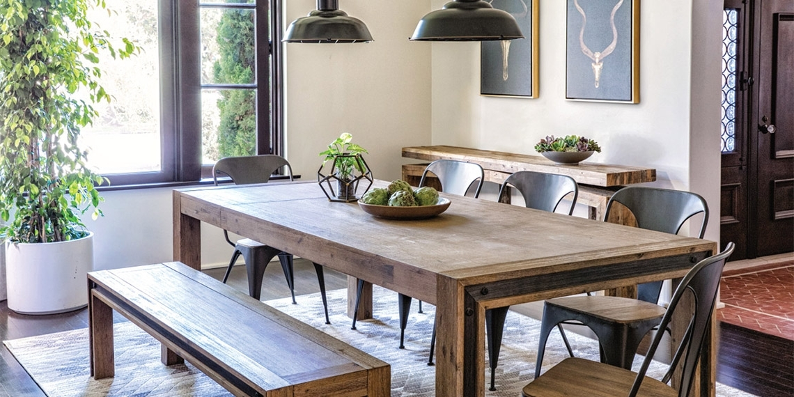 Well Liked Industrial Dining Room With Amos Extension Dining Table (View 18 of 20)