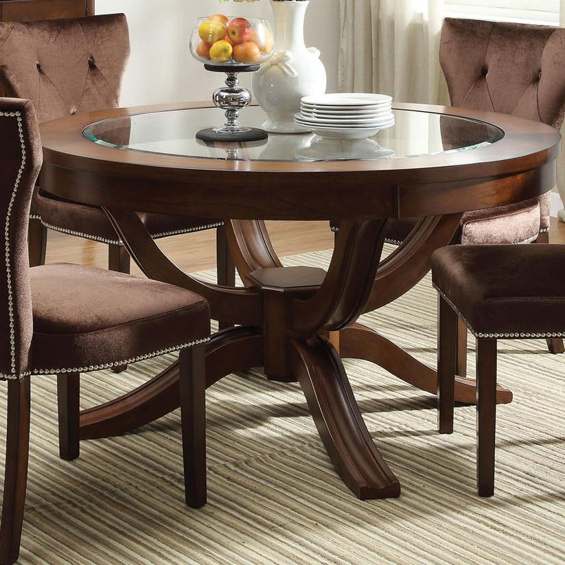 Well Liked Kingston Dining Tables And Chairs For Acme Furniture Kingston 60022 Round Transitional Formal Dining Table (View 18 of 20)