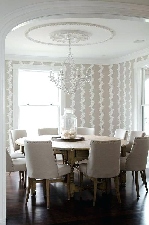 Well Liked Large Round Dining Table Beige Dining Room With Round Dining Table In Huge Round Dining Tables (View 20 of 20)