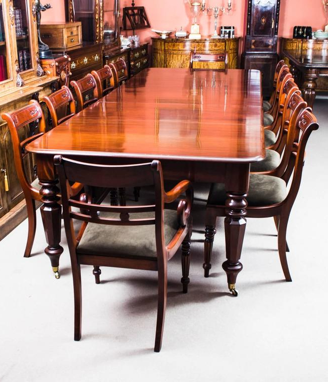 Well Liked Mahogany Extending Dining Tables And Chairs With Regard To Antique William Iv Mahogany Extending Dining Table And 12 Chairs At (View 20 of 20)