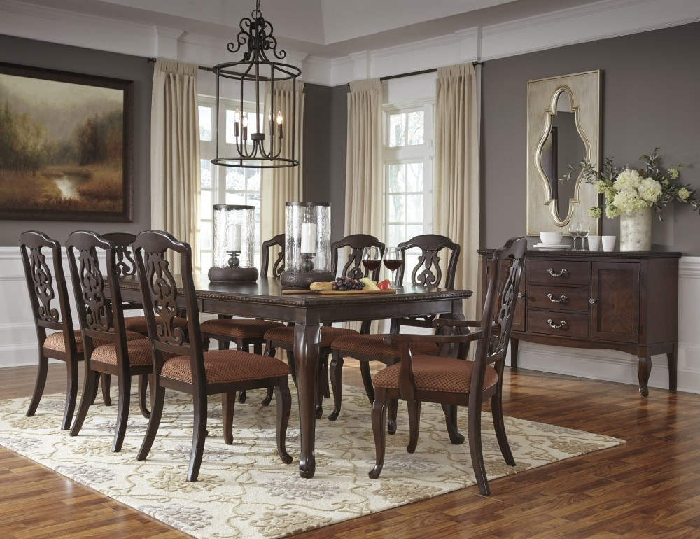 Well Liked Market 6 Piece Dining Sets With Side Chairs Regarding Gladdenville – Rect Dining Room Ext Table, 6 Uph Side Chairs & 2 Uph (View 20 of 20)