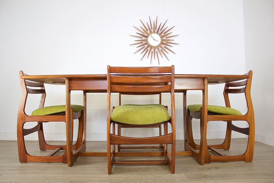 Well Liked Mid Century Retro Teak Danish Style Portwood Dining Table 4 Dining With Regard To Danish Style Dining Tables (View 14 of 20)