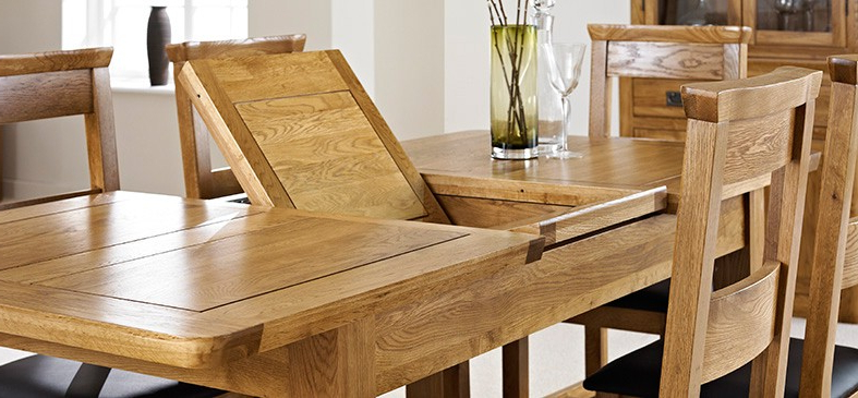 Well Liked Oak Extending Dining Sets Pertaining To London Oak Extending Dining Table – Dining Tables – Dining Room (View 5 of 20)