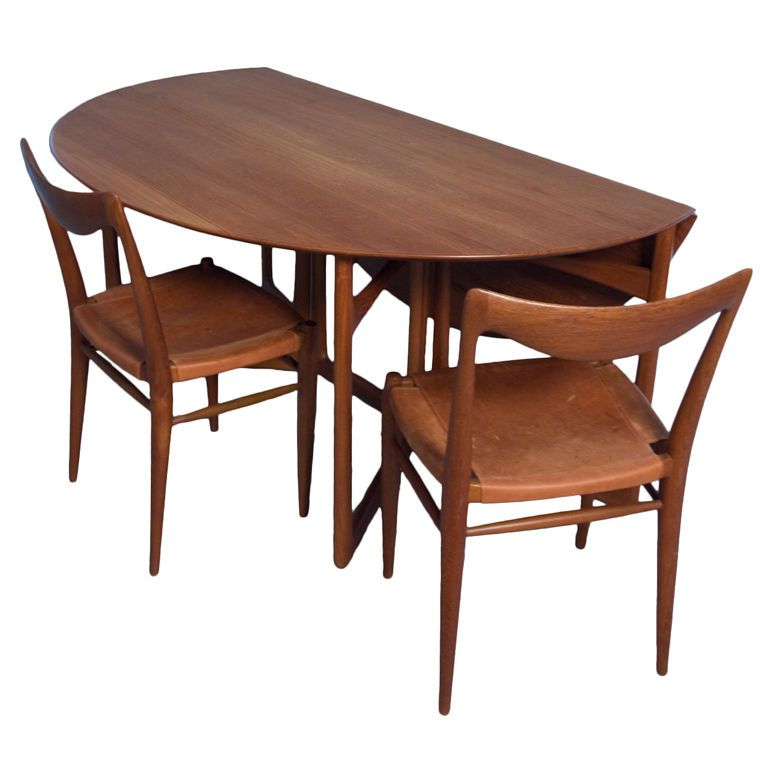 Well Liked Oval Folding Dining Tables With Dining Room: Classy Teak Folding Dining Table Set Design Ideas With (View 7 of 20)