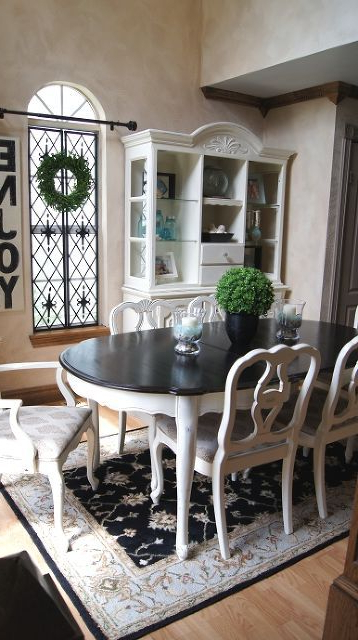Well Liked Painted Dining Tables For Dining Room Table Makeover In  (View 20 of 20)