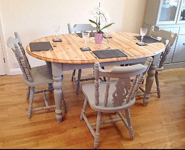 Well Liked Paris Grey Extending 4 8 Seater Dining Table & 4 Chairs (View 7 of 20)
