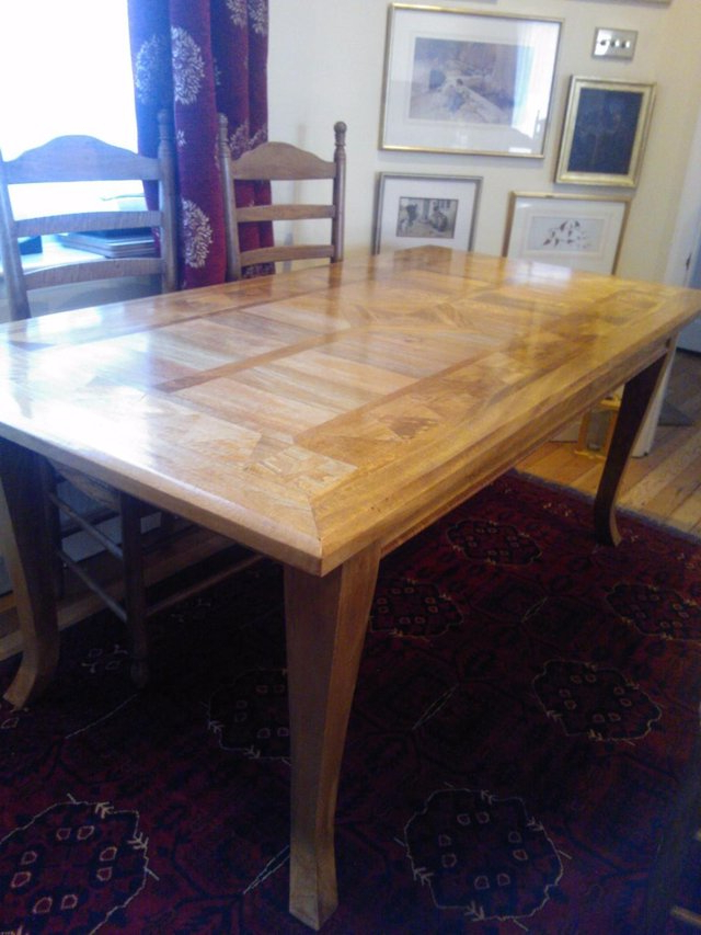 Well Liked Parquet 6 Piece Dining Sets Pertaining To Wood Dining Table And 6 Chairs – Second Hand Household Furniture (View 8 of 20)