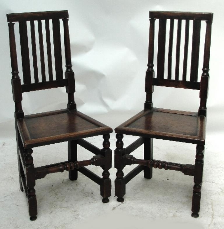 Well Liked Partridge Side Chairs Regarding Adam Partridge Auctioneers & Valuers : A Pair Of 18Th Century Oak (View 20 of 20)