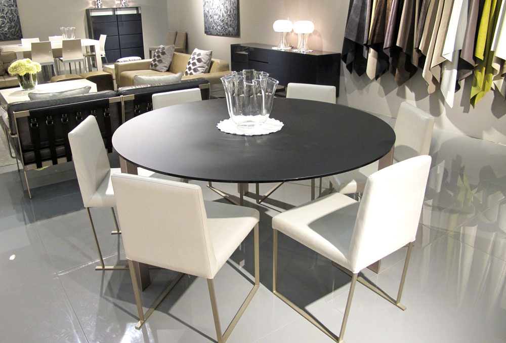 Well Liked Perth Glass Dining Tables With Dining Tables – Occhio 1500mm Round Dining Table Grey Satinato Glass (View 11 of 20)