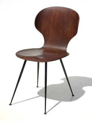 Well Liked Plywood & Metal Brown Dining Chairs Regarding Mid Century Plywood & Metal Dining Chairscarlo Ratti For Lissoni (View 19 of 20)