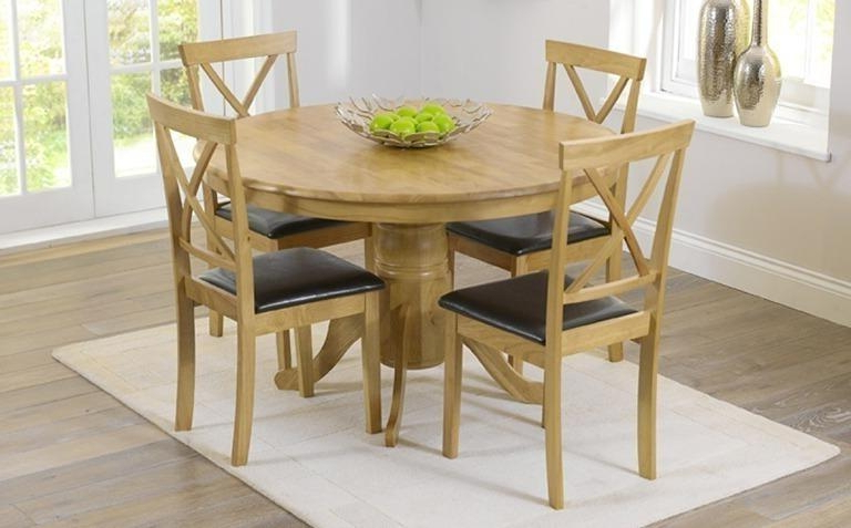Well Liked Round Oak Extendable Dining Tables And Chairs Pertaining To Round Oak Dining Table – Lmcompost (Gallery 1 of 20)