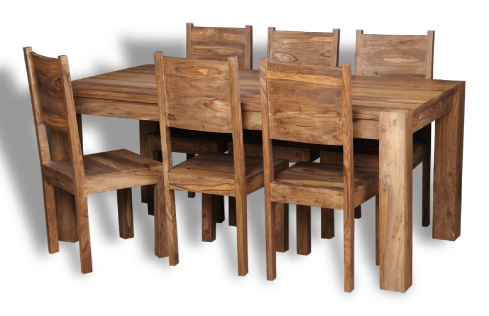 Well Liked Sheesham Dining Tables Pertaining To Sheesham Wood Dining Table (View 17 of 20)