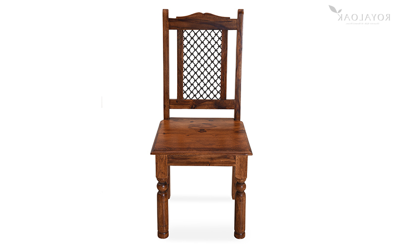 Well Liked Sheesham Wood Dining Chairs Regarding Buy Royaloak Haveli Sheesham Wood Dining Chaironline In India (View 8 of 20)