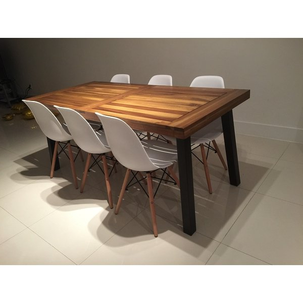 Well Liked Shop Sparta Acacia Wood Rectangle Dining Tablechristopher Knight Inside Dark Brown Wood Dining Tables (Gallery 11 of 20)