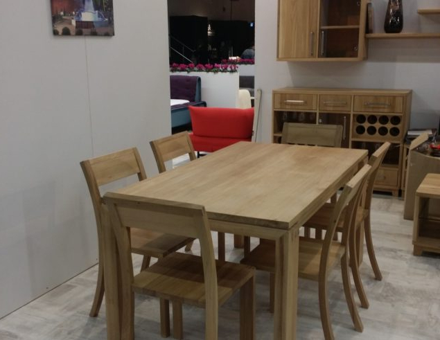 Well Liked Solid Oak Dining Table With 6 Chairs • Soligna Throughout Dining Table Sets With 6 Chairs (View 9 of 20)