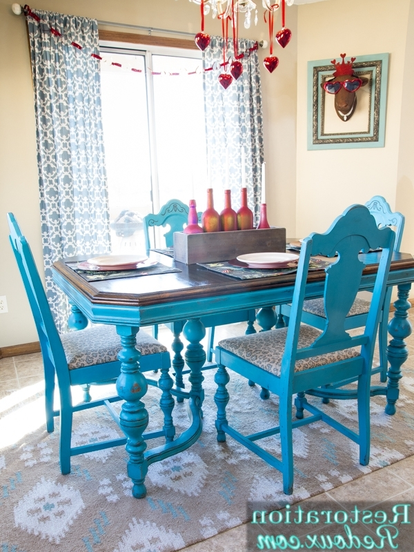 Well Liked Turquoise Dining Table – Daily Dose Of Style Pertaining To Blue Dining Tables (View 9 of 20)