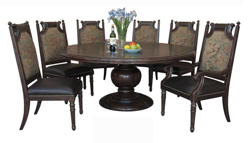 Well Liked Versailles Round Dining Table With Six Chairs Buy In Chino With Dining Tables And Six Chairs (View 16 of 20)