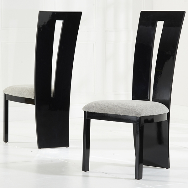 Well Liked Vienna Black Gloss Dining Chairs Pair – Robson Furniture Intended For Black Gloss Dining Furniture (View 7 of 20)