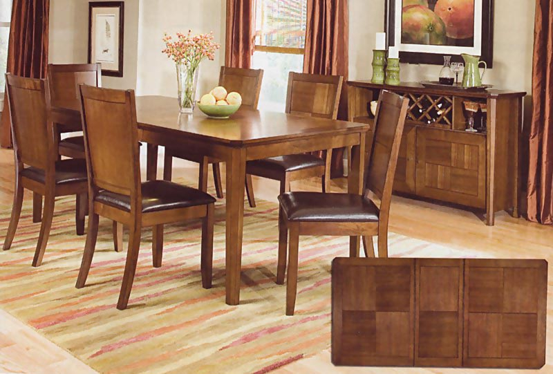 Well Liked Walnut Finish Dining Room Set (View 7 of 20)