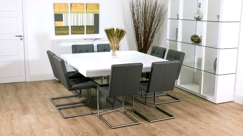 Well Liked White Dining Tables 8 Seater Throughout Modern Grey And White Extending Dining Table 8 Seater Uk Grey And (View 16 of 20)