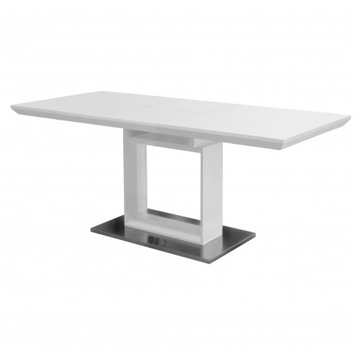 Well Liked White Extendable Dining Tables In High Gloss White Extending Dining Table – Unique Sparkle Designs (View 14 of 20)