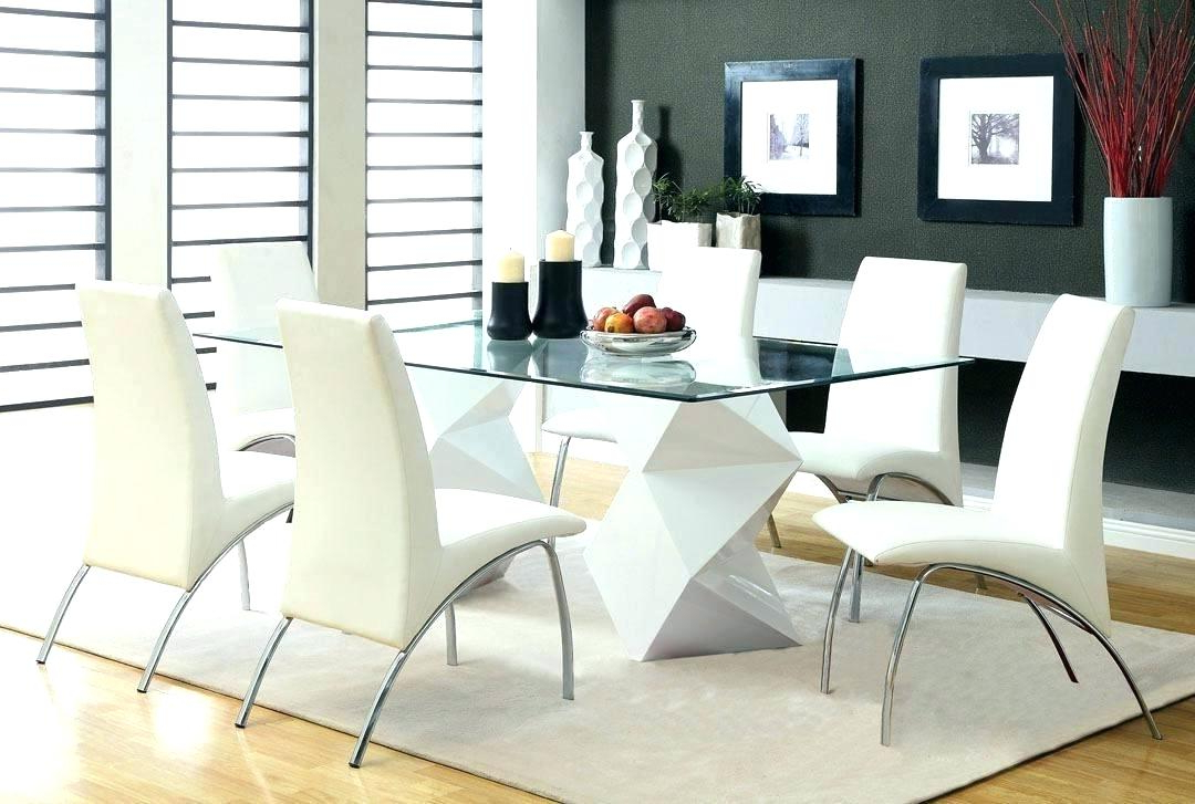 Well Liked White Glass Dining Tables And Chairs With Regard To Glass Dining Sets Glass Dining Table Sets 6 – Edugroup (View 9 of 20)