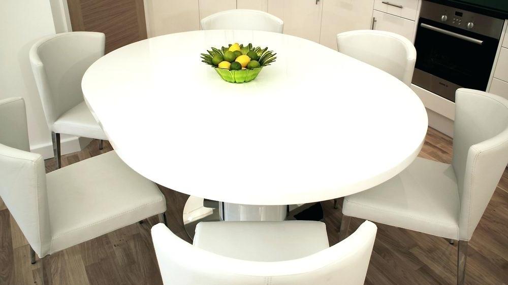 Well Liked White Round Pedestal Dining Table Modern Round White Gloss Extending Regarding White Gloss Round Extending Dining Tables (View 5 of 20)