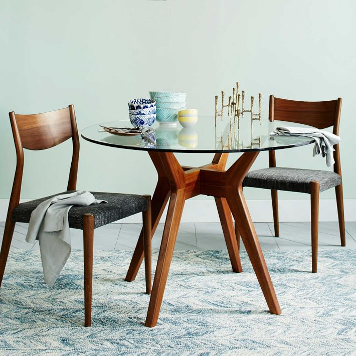 West Elm With Glasses Dining Tables (View 18 of 20)
