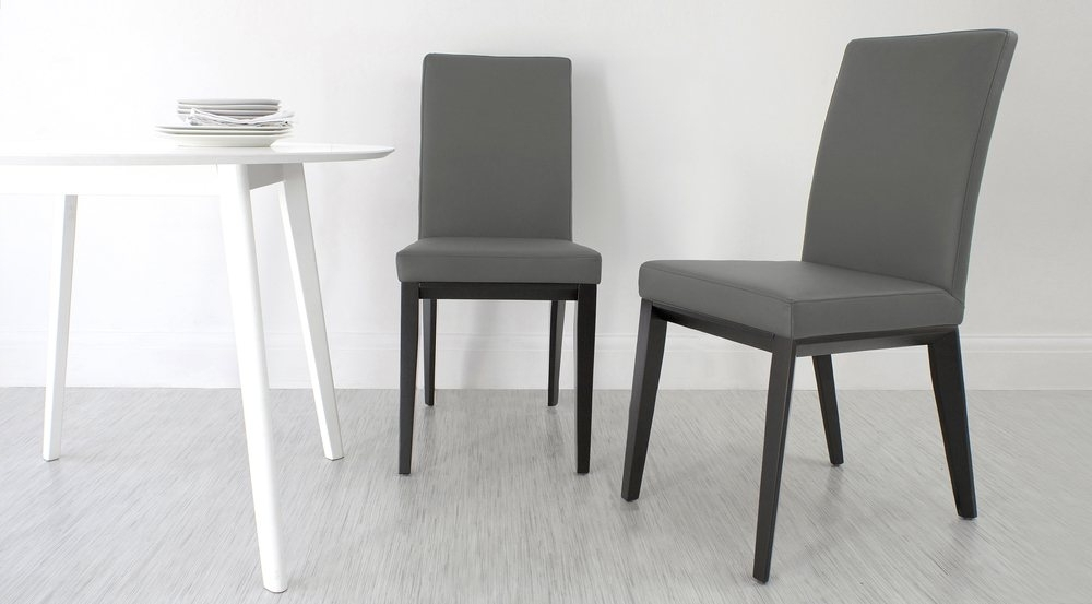 White, Black Or Grey Regarding Grey Dining Chairs (View 6 of 20)