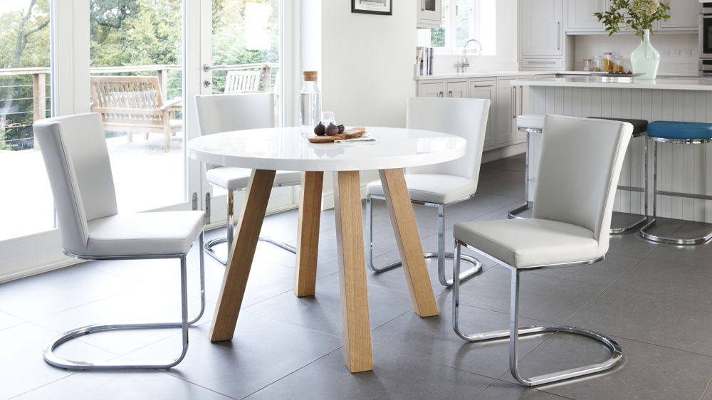 White Circle Dining Tables Regarding Most Recently Released The Effectiveness Of The Round White Dining Table – Home Decor Ideas (View 12 of 20)
