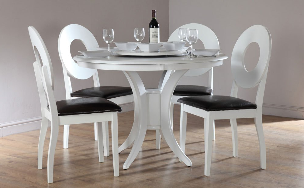 White Circle Dining Tables With Regard To Popular White Round Dining Table Sets – Castrophotos (View 18 of 20)