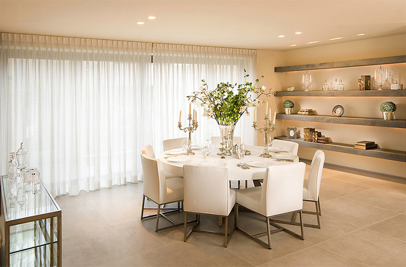 White Circular Dining Tables Inside Most Up To Date Furniture Arrangement Ideas: 25 Dining Rooms With Round White Dining (View 18 of 20)