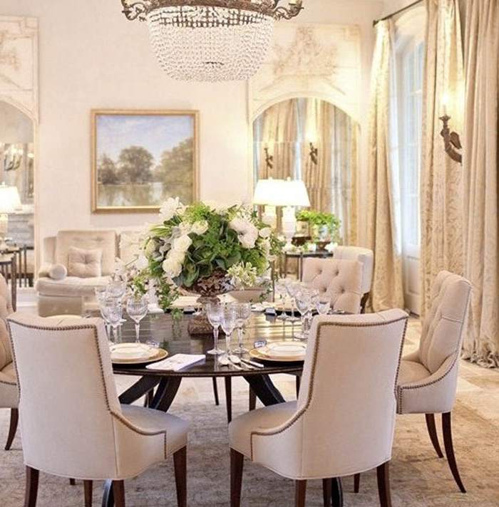 White Circular Dining Tables With Popular Dinning Room (View 13 of 20)