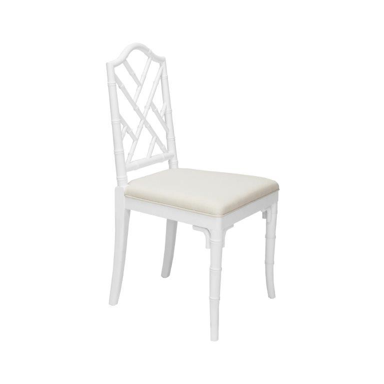 White Dining Chairs Inside Most Recently Released Fairfield Chippendale Bamboo White Dining Chair (View 15 of 20)