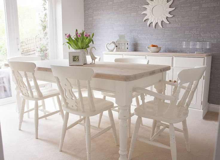 White Dining Room Table And 6 Chairs Best Home Design 2018 Metal Regarding Famous White Dining Tables And 6 Chairs (View 16 of 20)