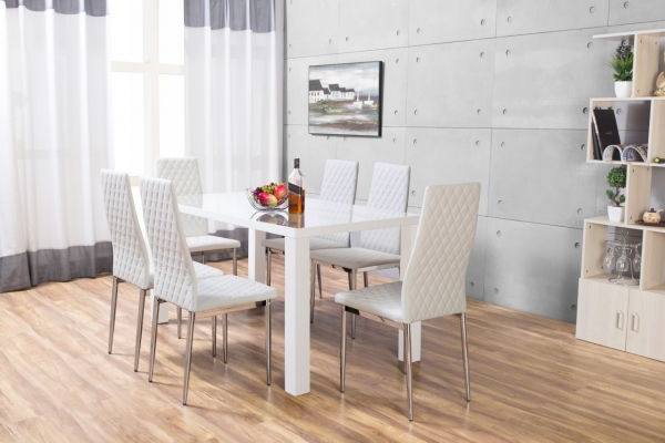 White Dining Sets Pertaining To Best And Newest Pivero High Gloss White Dining Set (View 19 of 20)