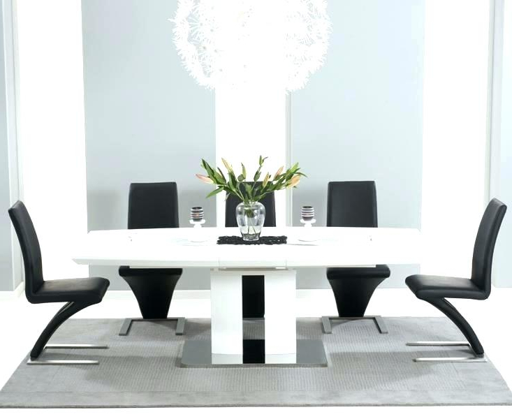 White Dining Table Black Chairs – Reconecte Regarding Widely Used White High Gloss Dining Tables And Chairs (View 18 of 20)